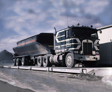 Black Truck On Scale